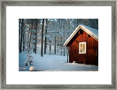Swedish Winter Framed Print by Robert Hellstrom