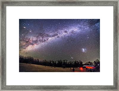 Sweep Of The Southern Milky Way Framed Print