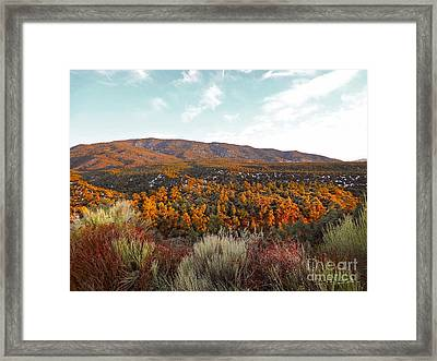 Sweeping Drops Of Light Framed Print by Gem S Visionary