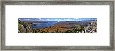 Sweeping Fall Panorama Over Lake Memphremagog Framed Print