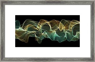 Sweeping Fractal 2 Framed Print by Dan Gries