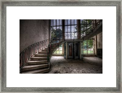 Sweeping Stairs Framed Print