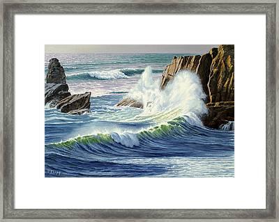 Sweeping Surf Framed Print