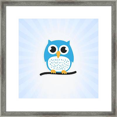 Sweet And Cute Owl Framed Print by Philipp Rietz