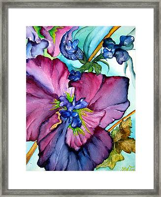 Sweet And Wild In Turquoise And Pink Framed Print