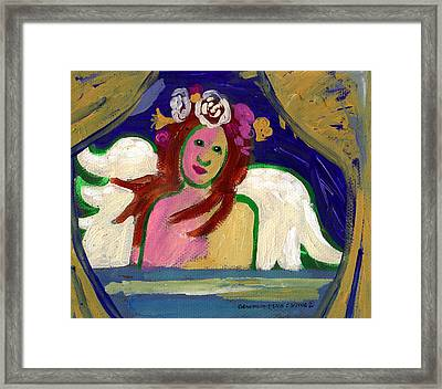 Sweet Angel Abstract Framed Print by Genevieve Esson