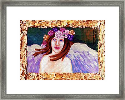 Sweet Angel Framed Print by Genevieve Esson