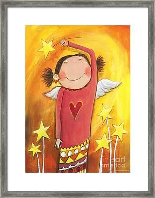 Sweet Angel Framed Print by Sonja Mengkowski