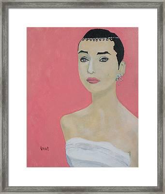 Sweet Audrey Framed Print by Oscar Penalber