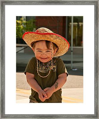 Sweet Boy Cowboy Hat Framed Print