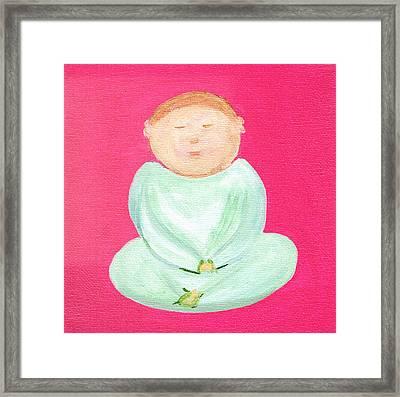 Sweet Buddha Framed Print