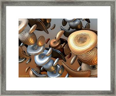 Sweet Buttons Of Your Dress. 2013 80/60 Cm.  Framed Print by Tautvydas Davainis