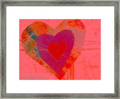 Sweet-candy-heart Framed Print by Dorothy Rafferty