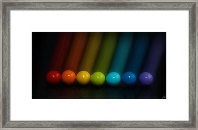 Sweet Candy Rainbow Framed Print