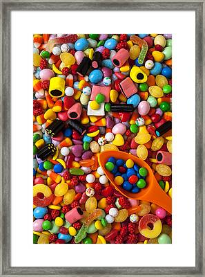 Sweet Candy With Scoop Framed Print by Garry Gay
