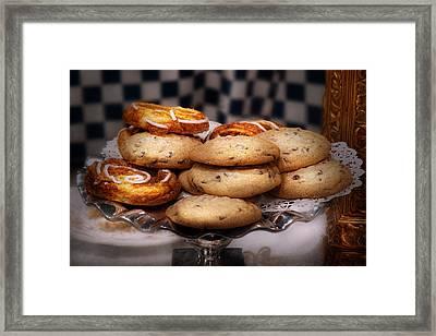 Sweet - Cookies - Cookies And Danish Framed Print by Mike Savad