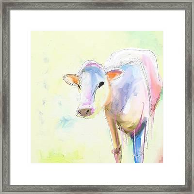Sweet Cow Framed Print