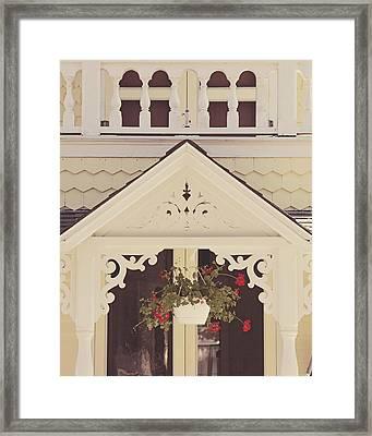 Sweet Cream Cottage Framed Print