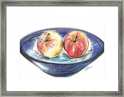 Sweet Crunchy Apples Framed Print