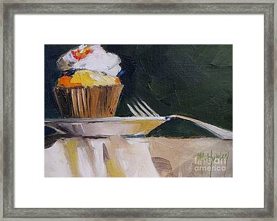 Sweet Cupcake Framed Print by Mary Hubley