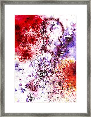 Sweet Death Kiss Framed Print by Rokon Chan