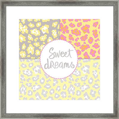 Sweet Dreams - Animal Print Framed Print