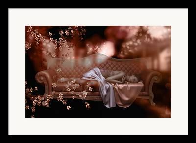 Chaise Digital Art Framed Prints