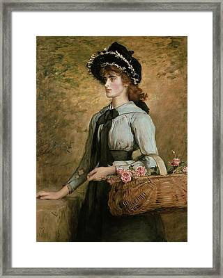 Sweet Emma Morland Framed Print by Sir John Everett Millais