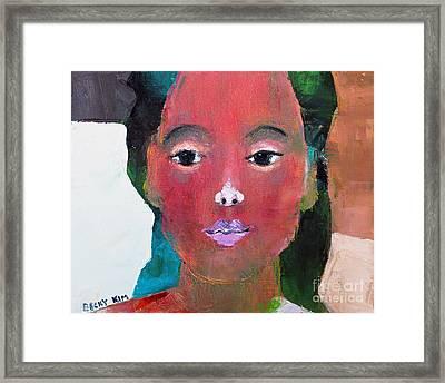 Sweet Face Framed Print
