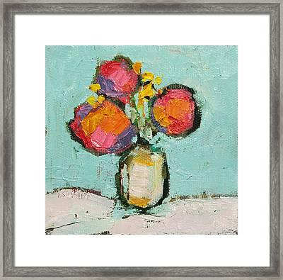 Sweet Flowers Framed Print by Becky Kim