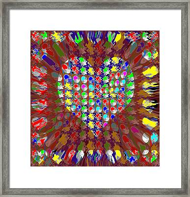 Sweet Heart Golden Sweetheart Made Of Moons Stars Sparkle Flair Unique Signature Art Navinjoshi Framed Print