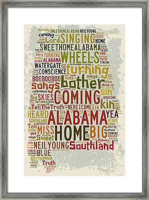 Sweet Home Alabama 1 Framed Print
