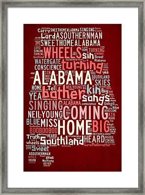 Sweet Home Alabama 4 Framed Print