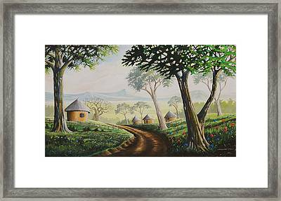 Framed Print featuring the painting Sweet Home by Anthony Mwangi