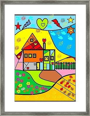 Sweet Home By Nico Bielow Framed Print