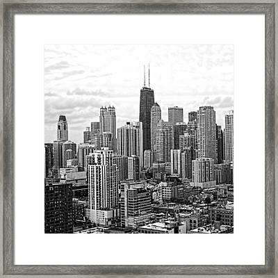 Sweet Home Chicago Bw Framed Print