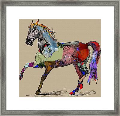 Sweet Horse Framed Print by Francis Erevan