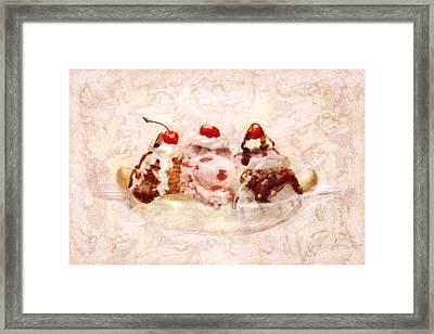 Sweet - Ice Cream - Banana Split Framed Print by Mike Savad