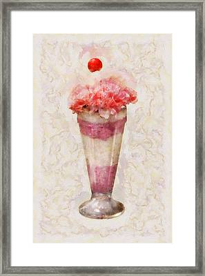 Sweet - Ice Cream - Ice Cream Float  Framed Print