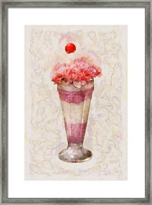 Sweet - Ice Cream - Ice Cream Float  Framed Print by Mike Savad