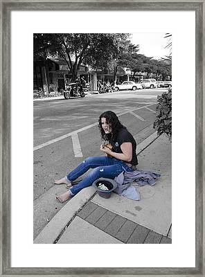 Sweet Jane - The Denim Underground Framed Print