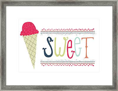 Sweet Framed Print by Katie Doucette