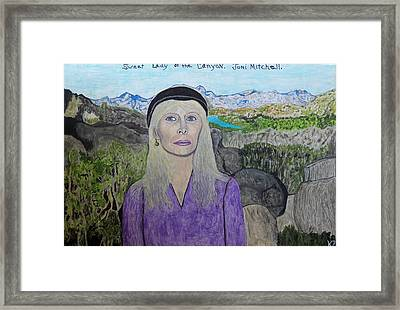 Sweet Lady Of The Canyon. Framed Print