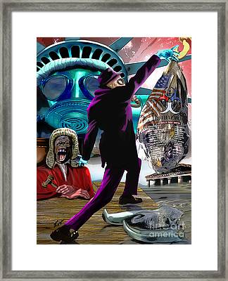 Sweet Land Of Liberty Framed Print by Reggie Duffie