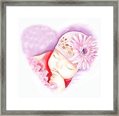 Sweet Lovely Dreams Framed Print by Irina Sztukowski