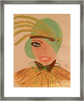 Sweet Mary Of The Sun Framed Print by Marie Bulger