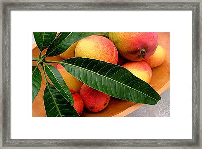 Sweet Molokai Mango Framed Print by James Temple