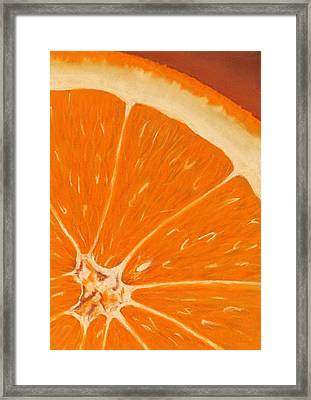 Sweet Orange Framed Print by Anastasiya Malakhova