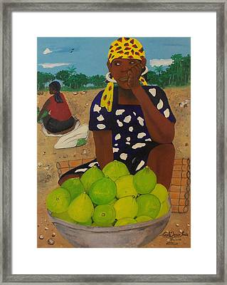 Sweet Oranges Framed Print by Nicole Jean-Louis