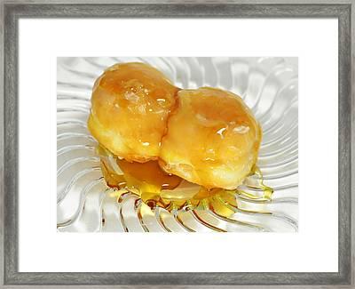 Sweet Pastry Donut Framed Print by Susan Leggett